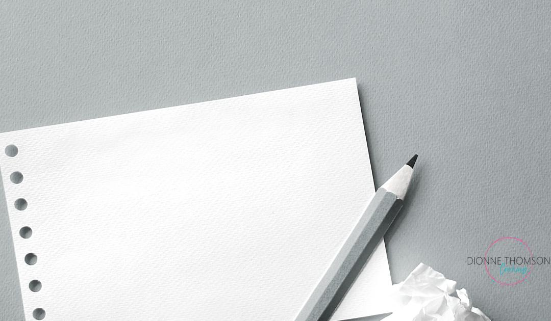 Just Start Writing…(again)